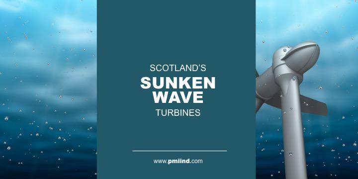 sunken wave turbines